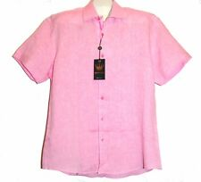 Bertigo Pink Linen Lining Stylish Men's Shirt Sz XL 5 $189 NEW
