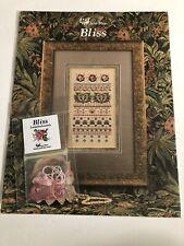 """New ListingJust Nan """"Bliss� Cross Stitch Pattern W/Embellishments"""