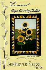 Sunflower Fields ~ Wall Quilt Pattern ~ by Laura's Sage Country Quilts #0701