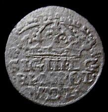 POLAND = 1624 = GROSCH CROWN - KING SIGISMUND III VASA - MINT CRACOV - SILVER