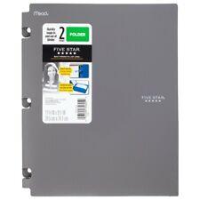 Five Star Snap-in Plastic Folder for Binders 2 Pocket Grey, textured- 4 pack
