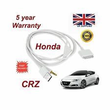 for HONDA CRV IPHONE 3GS 4 4S IPOD USB & 3.5MM CAVO AUX RICAMBIO BIANCO