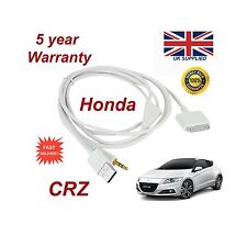 Para Honda CRV iPhone 3GS 4 4S Ipod Usb Y 3.5mm Cable Aux Reemplazo Blanco