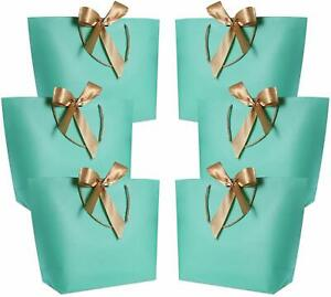 WantGor Gift Bags with Handles Party Favor Bag Bulk with Bow Ribbon