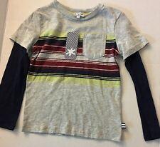 SPLENDID Boy Grey Stripe Top T-Shirt Long Sleeve Shirt 4T New NWT Navy Modal