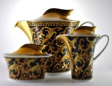 Versace by Rosenthal Barocco Teapot, Creamer & Sugar Bowl Set