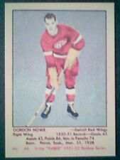 GORDIE HOWE  RED WINGS '51-52 PARKHURST REPRINT INSERT ROOKIE CARD #66