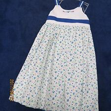 Will'beth Sun dress size 4, blue white pink floral. new w/tags