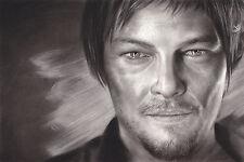 "The Walking Dead Daryl Dixon ART 20x30"" Unstretched Canvas Print"