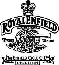 "Royal Enfield Motorcycle Bumper Sticker 5"" x 5"""