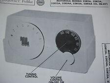 MOTOROLA 52R11A, 52R12A, 52R13A, 52R14A RADIO PHOTOFACT