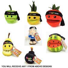 Fruit Ninja Sensei Pineapple Pear Strawberry Apple Bomb 8 Inch Plush Soft Toy