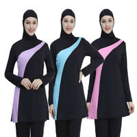 Muslim Islamic Women Full Cover Burkini Conservative Beachwear Split Swimsuit