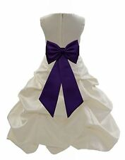 BUBBLE DRESS PICK-UP FORMAL PAGEANT GOWN WEDDING FLOWER GIRL JUNIOR RECITAL KIDS