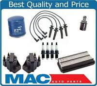 New Oil Air Filters Coils Spark Plug Wires Plugs 96-02 Saturn Vin 7 DOHC