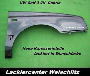 VW Golf 3 Cabrio KOTFLÜGEL RECHTS BLINKER OVAL LACKIERT+ WUNSCHFARBE NEU