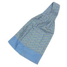 Auth HERMES 100% Silk Chain Pattern Ascot tie F/S 32022eSaM