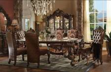 """Versailles 7 Piece Formal Dining Room Set 120"""" Table & Chairs Ornate Traditional"""
