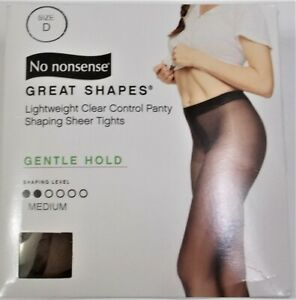 No Nonsense Great Shapes Lightweight Control Shaping Sheer Tights Gentle Hold D