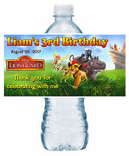 20 ~ LION GUARD BIRTHDAY PARTY FAVORS WATER BOTTLE LABELS ~ waterproof ink