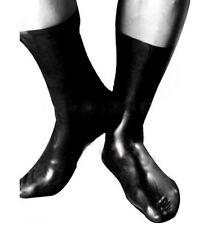 latex socks rubber socks hand made latex socks black
