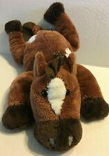 "Russ Brown And White Laying Horse 12"" Plush Stuffed Animal"