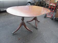 Retro Flip Tilt Top Mahogany Extending Dining Table Castors May Deliver