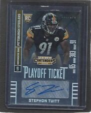 STEPHON TUITT 2014 CONTENDERS PLAYOFF TICKET STEELERS AUTO RC #D 7/199