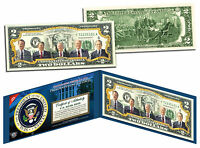US PRESIDENTS 1969-1993 Colorized Genuine $2 Bill NIXON FORD CARTER REAGAN BUSH
