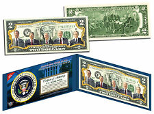US PRESIDENTS 1969-1993 Colorized Genuine $2 Bill NIXON FORD CARTER REAGAN BUSH