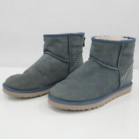 UGG Boots Mens US 11 Classic Mini Deco Short Suede Leather Imperial Navy Blue