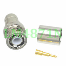 1pce Connector BNC male plug crimp RG8 RG213 LMR400 RG214 cable straight