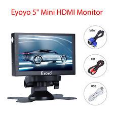 "Pocket 5"" LCD HD HDMI Monitor Car Rear View VGA BNC AV USB For PC Security Cam"