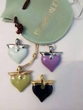 Bernardaud pendenti cuore porcellana di Limoges vari colori