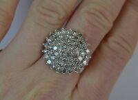 2.74 Ct Round Cut Sim Diamond 14K Solid Yellow Gold Cluster Engagement Ring