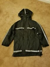 Black raincoat and jacket 2 in 1.Practice in winter time.
