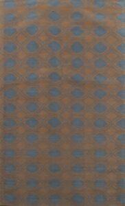 Geometric Hand-tufted Modern Area Rug Oriental Wool/ Silk 6x8 Black Friday Deal