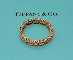 Tiffany & Co. Ring Somerset Mesh 750(18K) Narrow 3.75mm Rose Gold US7.5 Band