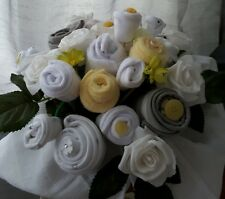 Baby Clothing Bouquet boy girl Twins pbaby shower gift quality White Lemon