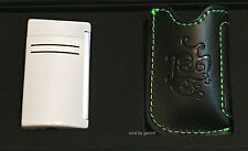 S.T. Dupont Optic White MaxiJet Torch Lighter (020159N) & Pouch, New In Box