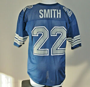 Vintage 90s Emmitt Smith #22 Dallas Cowboys Champion NFL Football Jersey Size 44
