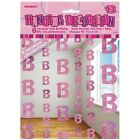 Happy Birthday 16-70th 5ft String Hanging Party Decoration 6 Strings 3 Colours 13th Pink