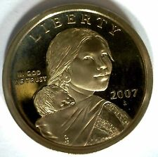 2007 -S SACAGAWEA Golden Dollar Native American PROOF Coin US Mint MADE IN USA