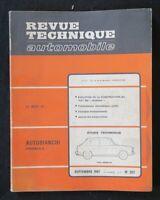 REVUE TECHNIQUE AUTOMOBILE RTA FIAT 500 & AUTOBIANCHI PRIMULA n°257 1967