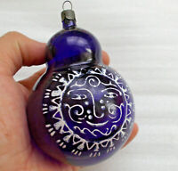 Antiker Russen Alten Christbaumschmuck Glas Weihnachtsschmuck Sun Sonne Ornament
