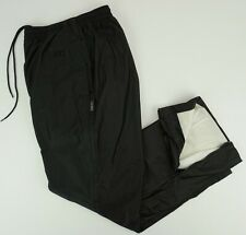 "VTG asics Gore-Tex Mens Large x 28.50"" Black Waterproof Adjustable Running Pants"