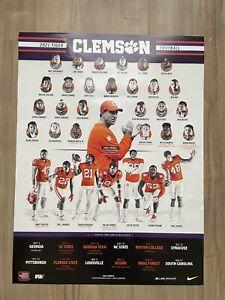Clemson Football 2021 Poster Tigers University Dabo Swinney