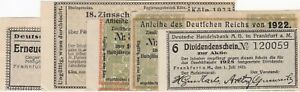 Paper Money - Germany - Lot of 5 Different Coupons - 1922-1928 - EF