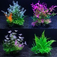 Artificial Water Plants Fish Tank Aquarium Green Grass Ornament Landscape Supply