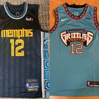NWT #12 Ja Morant Memphis Grizzlies Men's Teal or Navy Stitched Jersey